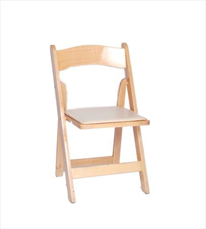 Natural Wood Folding Chair - Chairs