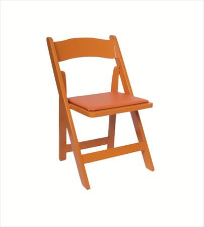Party Rental Products Orange Folding Chair Chairs