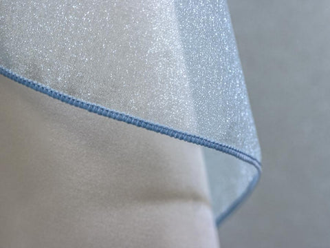 Light Blue Sparkle Organza - Organza