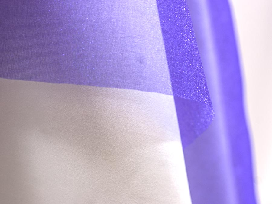 Purple Sparkle Organza - Organza