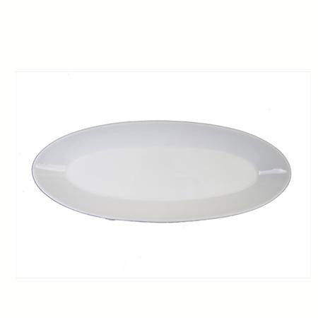 Party Rental Products Oval White 6 inch  x 16 inch   Platters