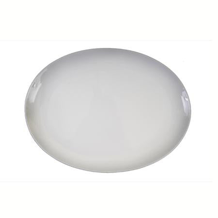 Party Rental Products Oval White Coupe 14 inch  x 11 inch   Platters