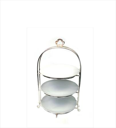 Plate Stand 3 Tier Silver - 10