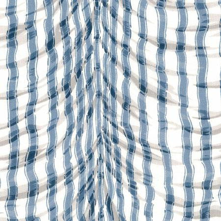 Party Linens Plisse Blue Stripes and Polka Dots