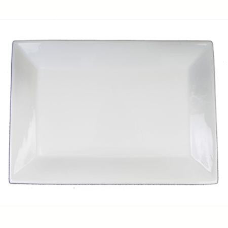 Party Rental Products Rectangular White 20 inch  x 13 inch   Platters
