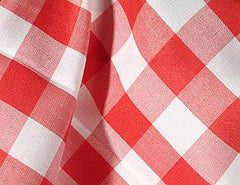 Party Linens Red Check Napkins