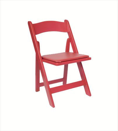 Red Folding Chair - Chairs