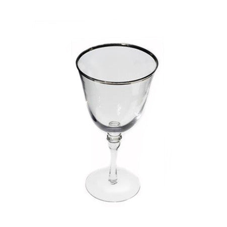 Silver Rim Water Glass 12 oz