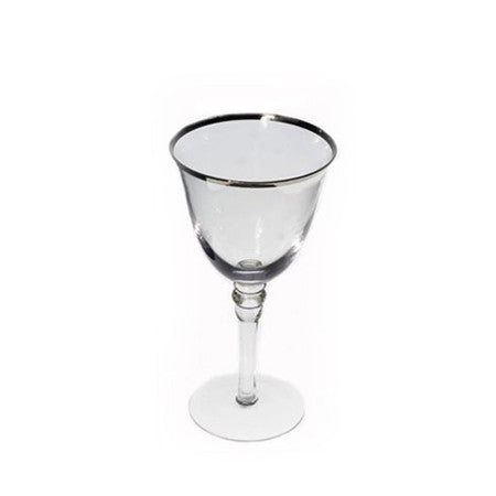 Silver Rim Wine Glass 10 oz