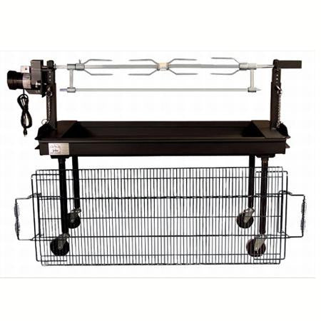 Rotisserie Top for 5' Charcoal Grill - Cooking
