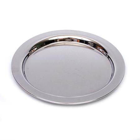 Party Rental Products Round Stainless 12 inch   Trays