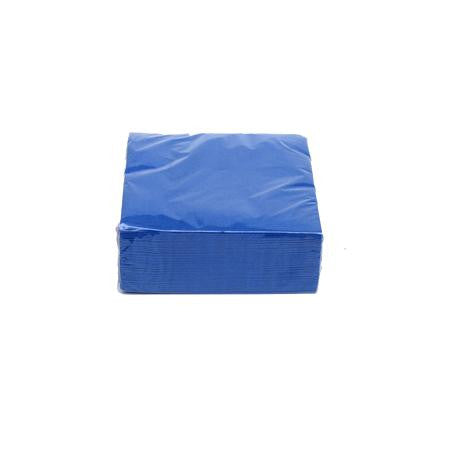 Royal Blue Cocktail Napkins  - Paper Products
