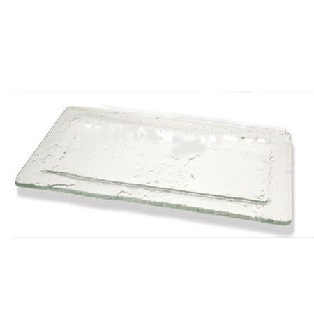 Party Rental Products Seaglass Rectangular 16 inch x7 inch  Platters