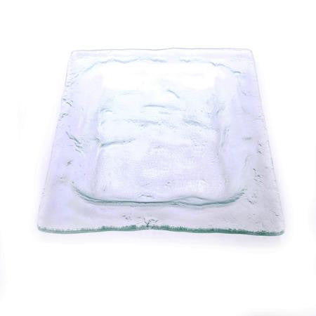 Party Rental Products Seaglass Square 16 inch  Platters