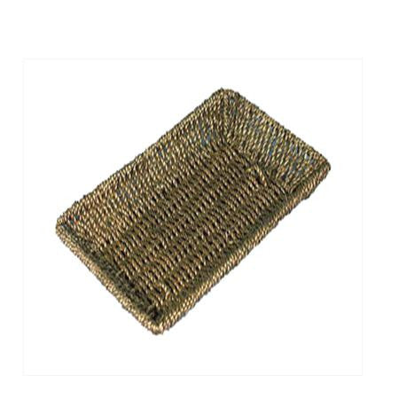 Party Rental Products Seagrass 12 inch x7 inch x1 inch  Baket/Tray Trays