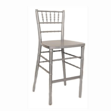 Silver Ballroom Bar Stool