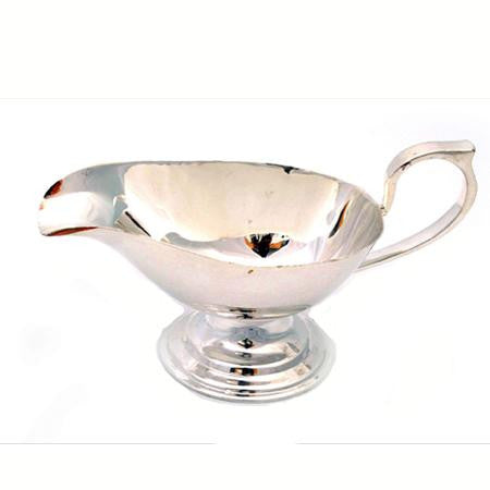 Party Rental Products Silver Gravy Boat  Tabletop Items