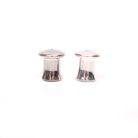 Party Rental Products Silver Mushroom Salt and Pepper Tabletop Items