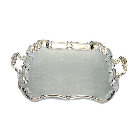 Silver Rectangle 14 inch  x 18 with Handles - Trays