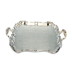Party Rental Products Silver Rectangle 14 inch  x 18 with Handles Trays