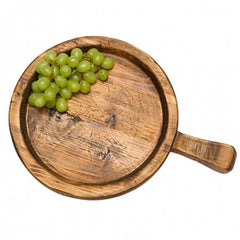 Party Rental Products Spanish Wood Tray 20 inch  Round Platters