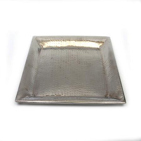 Square Hammered 16 inch Tray