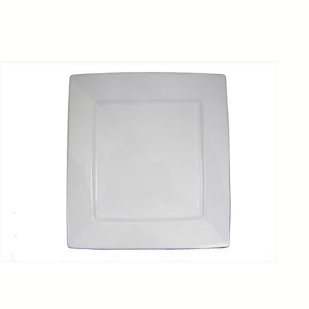 Party Rental Products Square White 12 inch   Platters