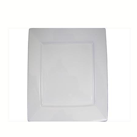 Party Rental Products Square White 14 inch   Platters