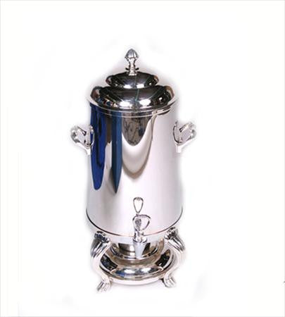 Party Rental Products Straight Side Silver Samovar 50 Cup   Coffee
