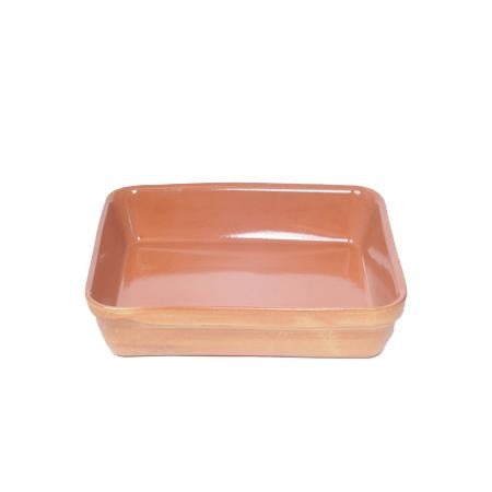 Terra Cotta 10 inch  x 13 inch  Rect. Baking Dish - Chafers