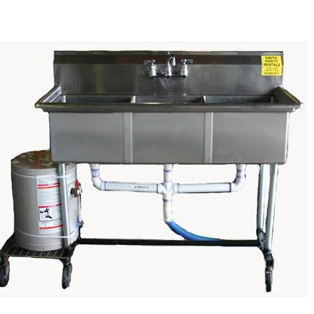 Party Rental Products Triple Stainless Steel w/ hot water heater Cooking