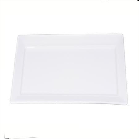 Party Rental Products White 6 inch  x 11 inch  Rectangle China