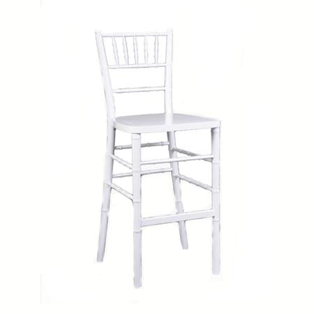 Party Rental Products White Ballroom Bar stool Chairs