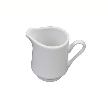 White Rim China Creamer