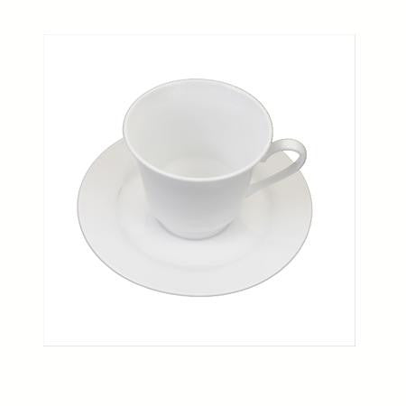 White Rim Cup and Saucer - Coffee