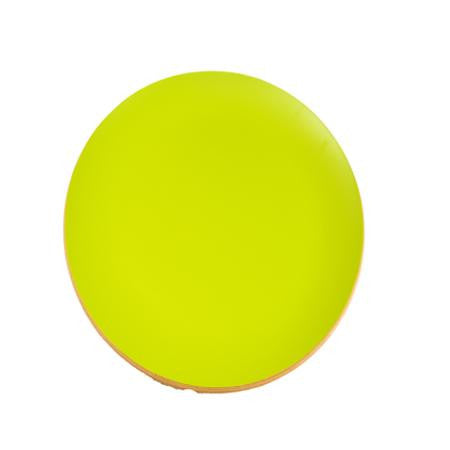 Party Rental Products Wood Round Lite Lime 16 inch  Tray Trays