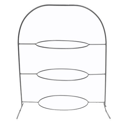 Wrought Iron 3 Tier Oval - Trays
