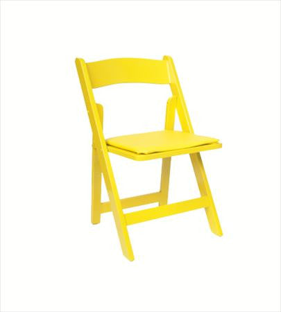 Party Rental Products Yellow Folding Chair Chairs