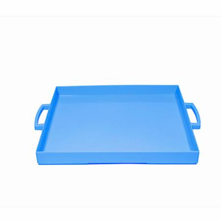 Party Rental Products Zak French Blue Rectangular Tray  Trays