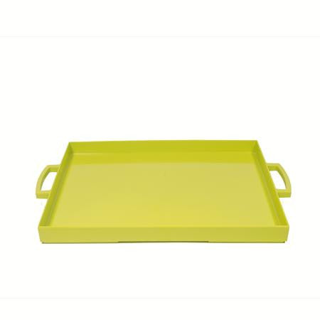 Party Rental Products Zak Lime Green Rectangular Tray Trays