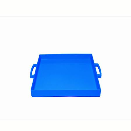 Party Rental Products Zak Navy Blue Square Tray Trays