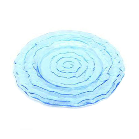 Azure Swirl Glass Charger 13