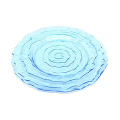 "Azure Swirl Glass Charger 13"" - Chargers"