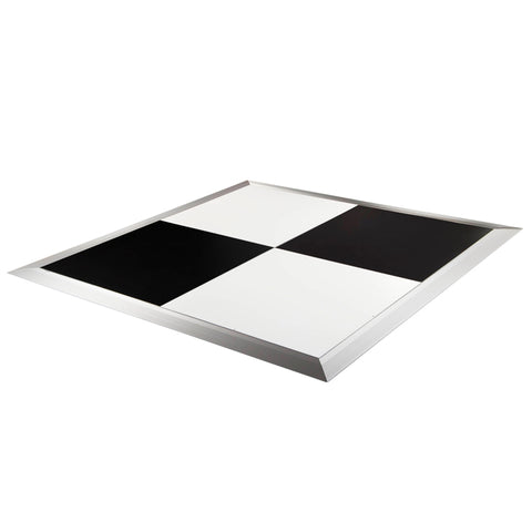 Dance Floor - Black & White 4x4 with SS Trim.