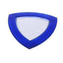 "Blue Triangle 13"" Glass Charger - Chargers"