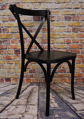 Cross Back Chair - Black