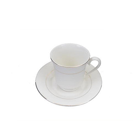 Gold Rim Cup and Saucer