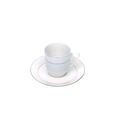 Gold Rim Demi Cup and Saucer
