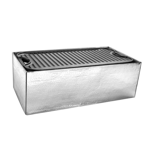Griddle Cover Hammered Stainless Steel - 20