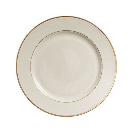 "Gold Rim 9"" Luncheon Plate"